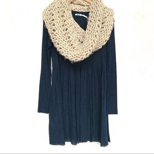 Kimchi Blue Dark Blue Babydoll Dress, NWOT Small